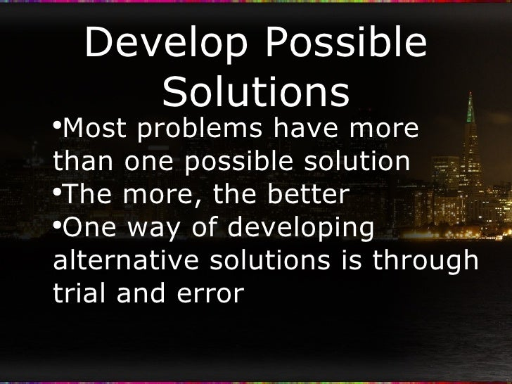 the problems and solutions of developing