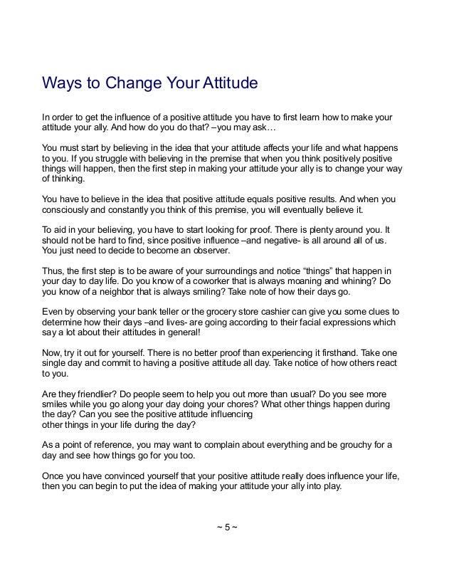 Keys to Developing a Positive Attitude