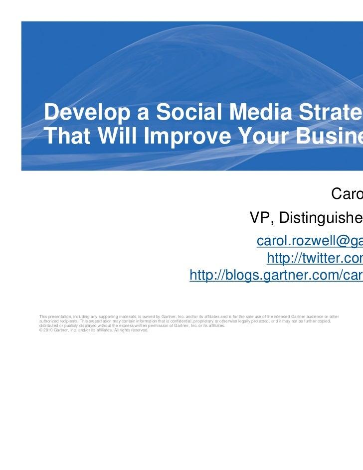 Develop A Social Media Strategy
