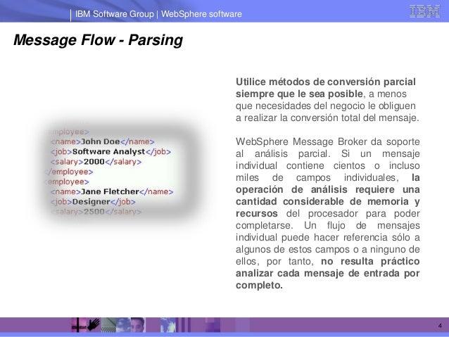 IBM Software Group | WebSphere softwareMessage Flow - Parsing                                             Utilice métodos ...