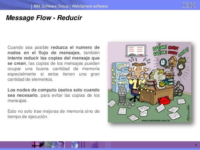 IBM Software Group | WebSphere softwareMessage Flow - ReducirCuando sea posible reduzca el numero denodos en el flujo de m...