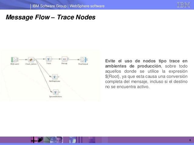 IBM Software Group | WebSphere softwareMessage Flow – Trace Nodes                                                 Evite el...