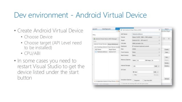 how to develop visual studio apps