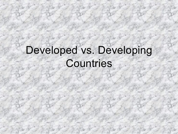 Essay about characteristics of developing countries