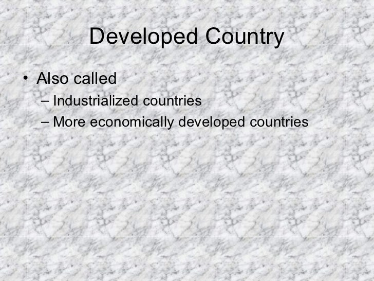 Development and Developing Countries