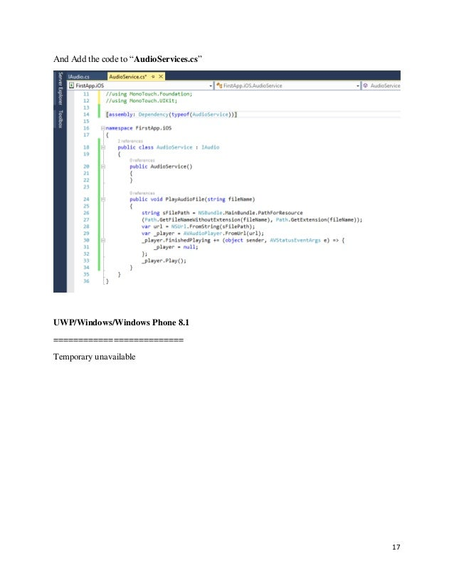 Developed your first Xamarin Forms Application