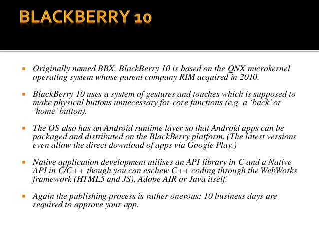 Development of Mobile Application -PPT