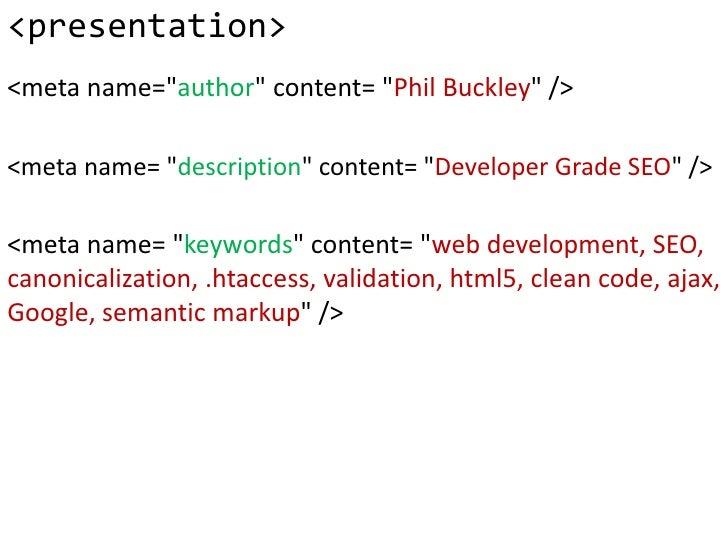 Developer Grade SEO - part II Slide 2