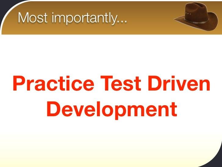how to develop testing menu