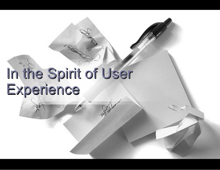 In the Spirit of User Experience