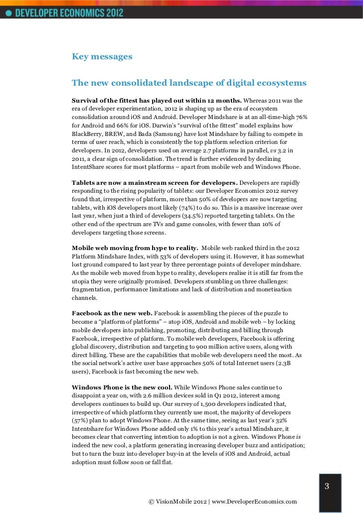 Key messagesThe new consolidated landscape of digital ecosystemsSurvival of the fittest has played out within 12 months. W...