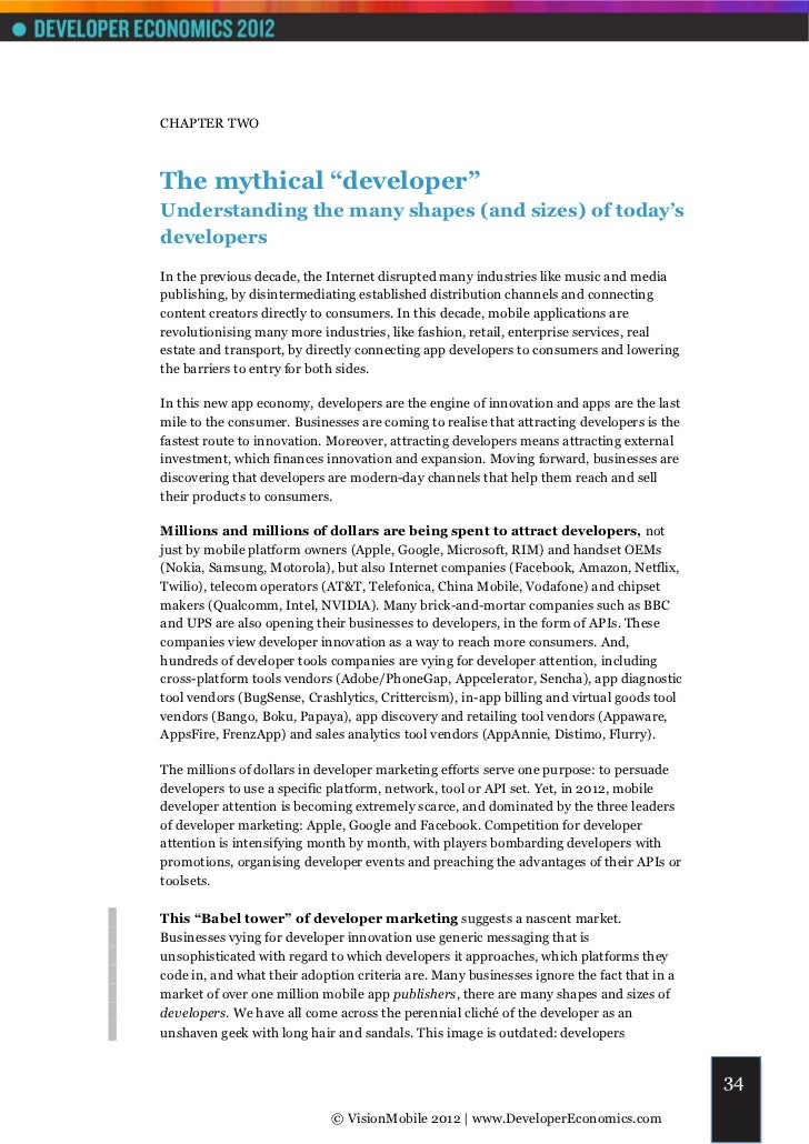 """CHAPTER TWOThe mythical """"developer""""Understanding the many shapes (and sizes) of today'sdevelopersIn the previous decade, t..."""