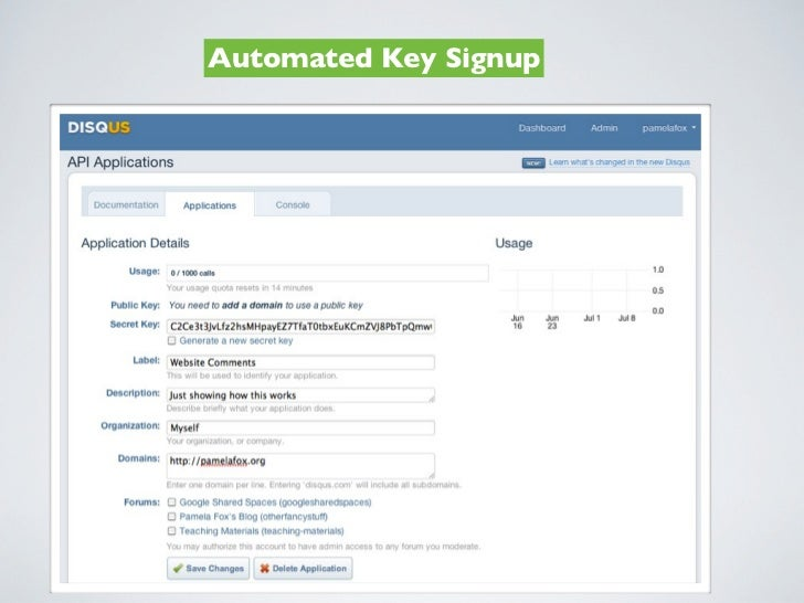 Automated Key Signup