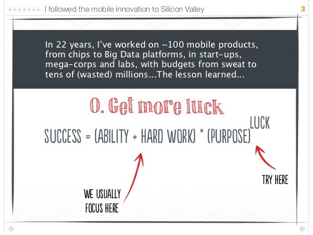 I followed the mobile innovation to Silicon Valley                3In 22 years, I've worked on ~100 mobile products,from c...