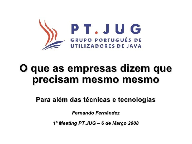 Developers Java: O que as empresas dizem que precisam