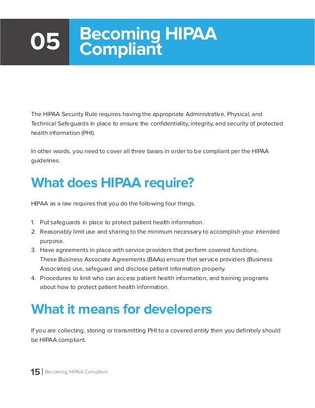 Hipaa Compliant Release Form Application Developers Guide To Hipaa