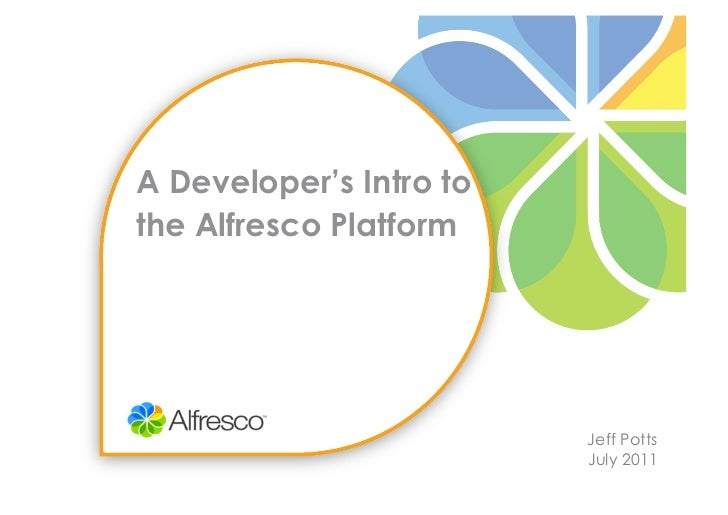 Developer's intro to the alfresco platform