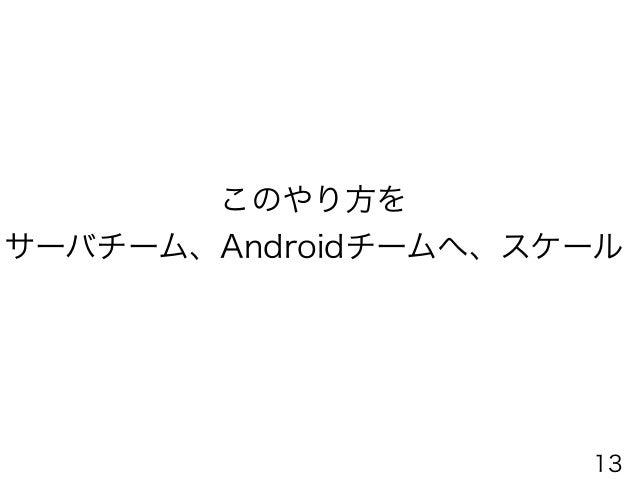 サーバーエンジニアをScrumチーム化 Server Engineer Android EngineerLead Engineer 兼務 Scrum Master Server Scrum team 旧Engineer team iOS Scr...