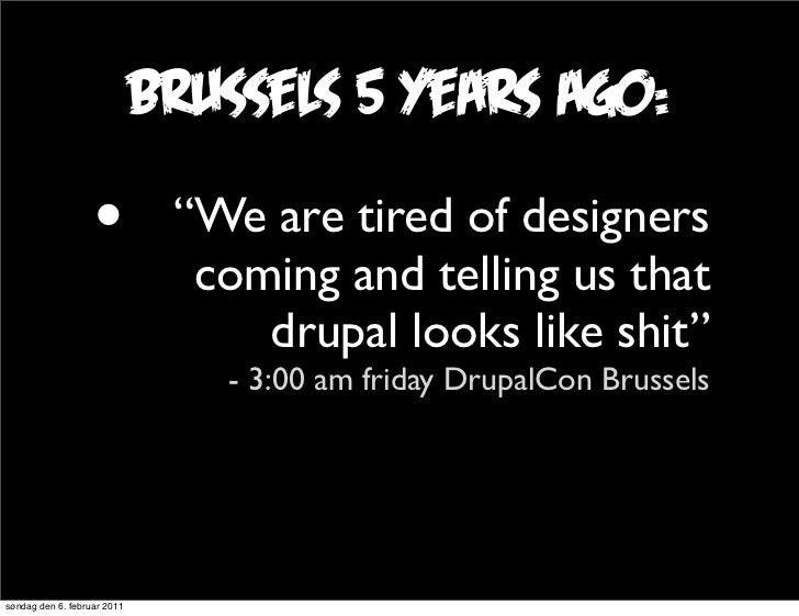 """brussels 5 years ago:                   •          """"We are tired of designers                               coming and tel..."""