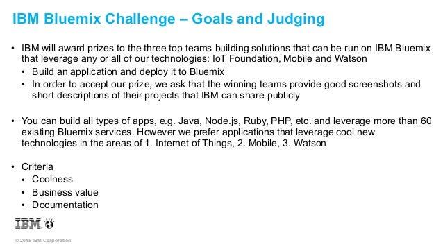DeveloperWeek Hackathon - IBM Bluemix Challenge Slide 3