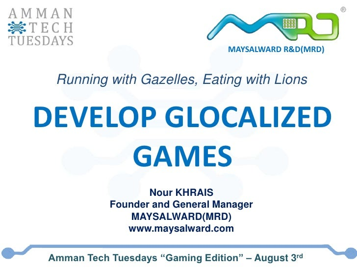 AmmanTT - Develop glocalized games