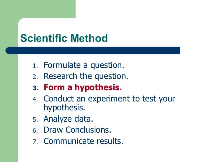 developing a hypothesis and title for your experiment