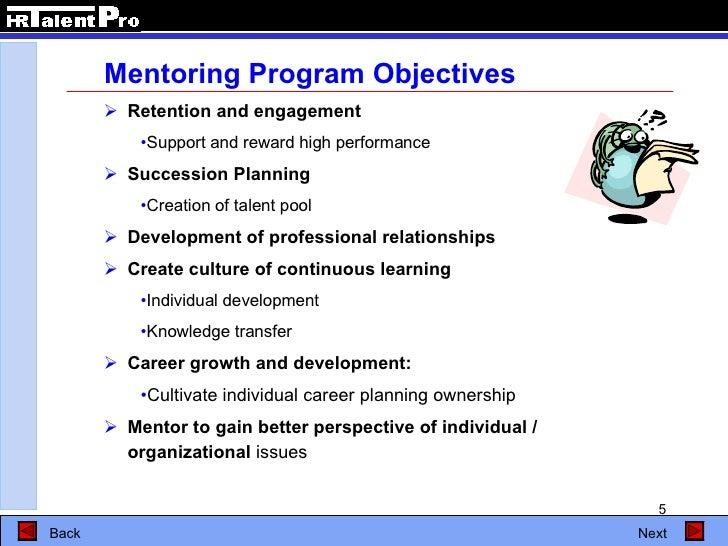 sample of mentoring program business plan