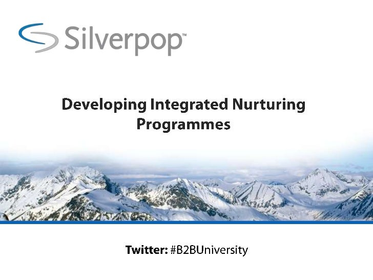 Developing Integrated Nurturing Programmes<br />Twitter: #B2BUniversity<br />