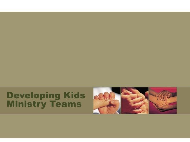 Developing Kids Ministry Teams