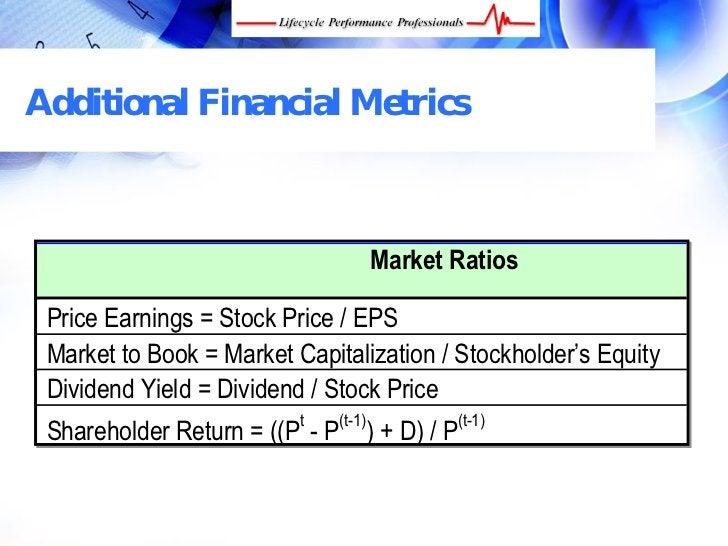 Additional Financial Metrics                                          Market Ratios   Price Earnings = Stock Price / EPS  ...