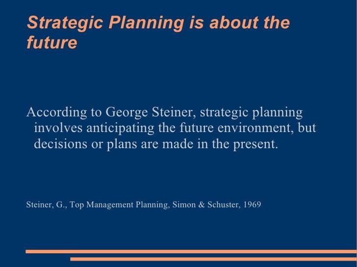 george steiner strategic planning pdf