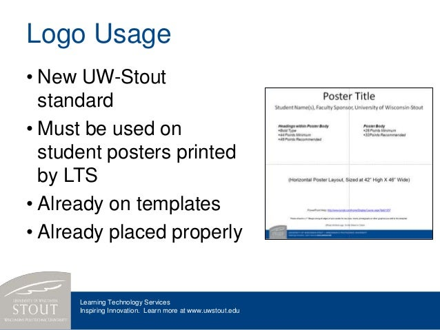 developing your research posters, Presentation templates