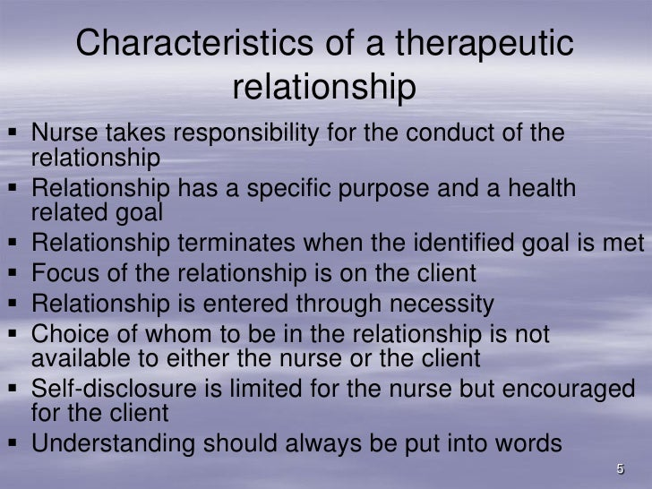 chinese nurse client relationship essay Defining a therapeutic relationship between patient and nurse nursing essay preferring to sense and respond to the experience and perceptions of her client.