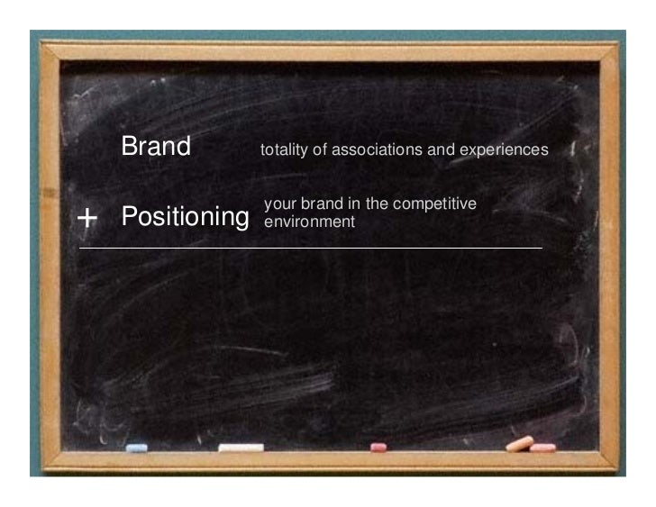 Positioning the Brand          Developing a brand claim            Blending science and insight            Holistic and st...