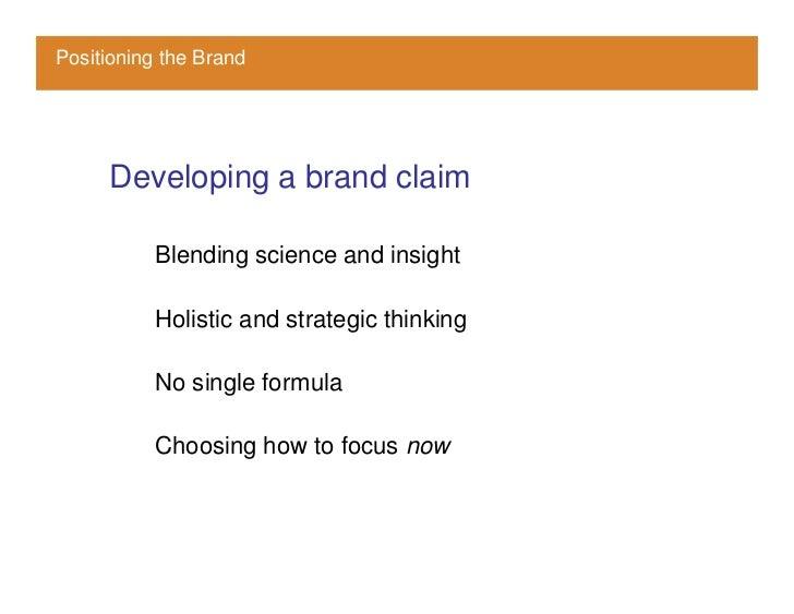 Brand Positioning Priorities