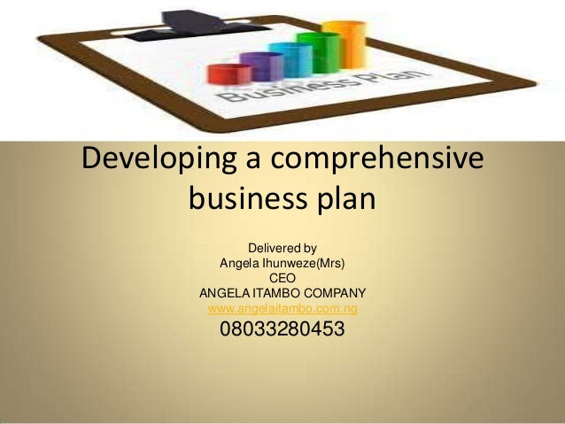 a comprehensive business proposal From the national government, the csbp was completely revised and the new  comprehensive special business plan (new csbp) was.