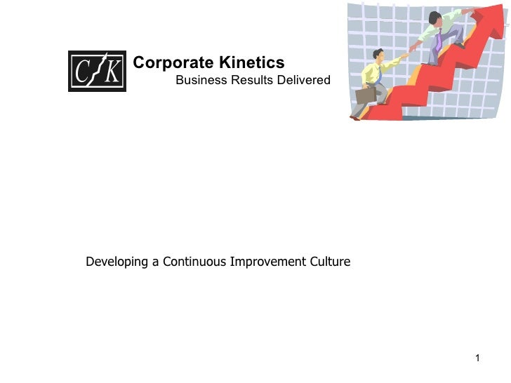 Corporate Kinetics Business Results Delivered Developing a Continuous Improvement Culture