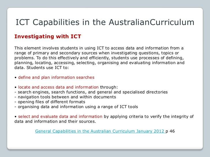 Information andCommunication Technologies(ICT)K–10 Cross CurricularFramework and SupportMaterials plusSkills Checklistshtt...