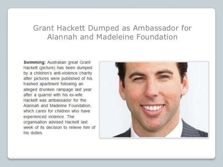 Grant Hackett Dumped as Ambassador for   Alannah and Madeleine Foundation