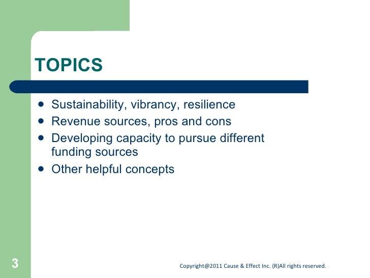 Developing a diverse funding base Slide 3