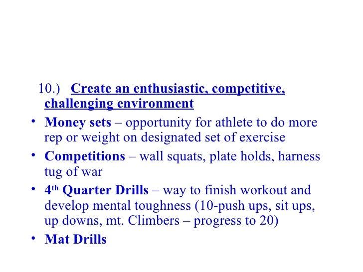 Developing A High School Strength &