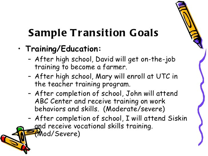 Tips for writing transition iep goals.