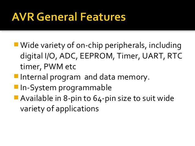    The AVR chip has a built in interface, that enables you    to write and read the content of the program flash and    t...