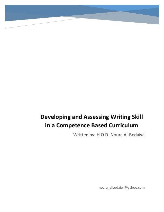 developing and assessing writing skill in a competence based curricul u2026