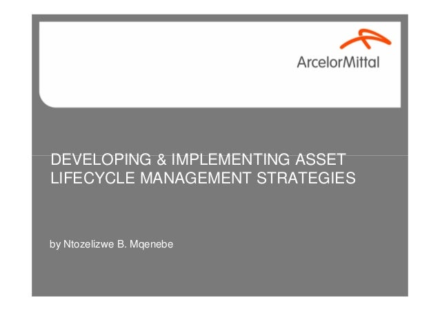 DEVELOPING & IMPLEMENTING ASSET LIFECYCLE MANAGEMENT STRATEGIES by Ntozelizwe B. Mqenebe