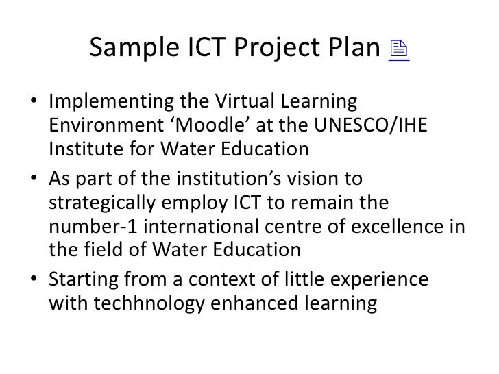 Ict Proposal Sample