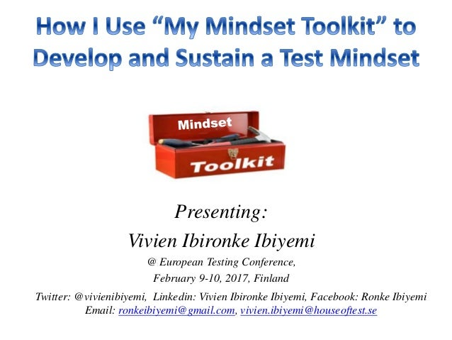 Presenting: Vivien Ibironke Ibiyemi @ European Testing Conference, February 9-10, 2017, Finland Twitter: @vivienibiyemi, L...