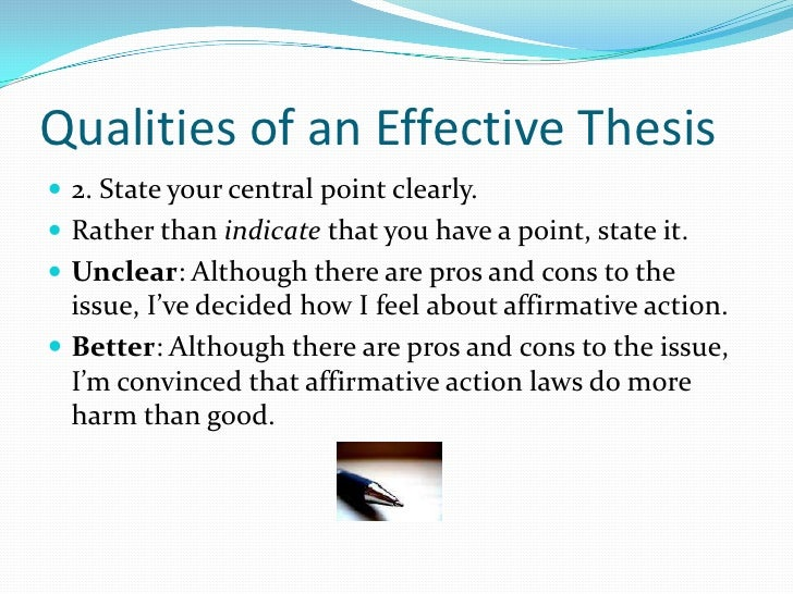 effective thesis statements  · write a good thesis statement - duration: 9:45 ashan r hampton 35,820 views 9:45 how to write a thesis for beginners - duration: 3:44.