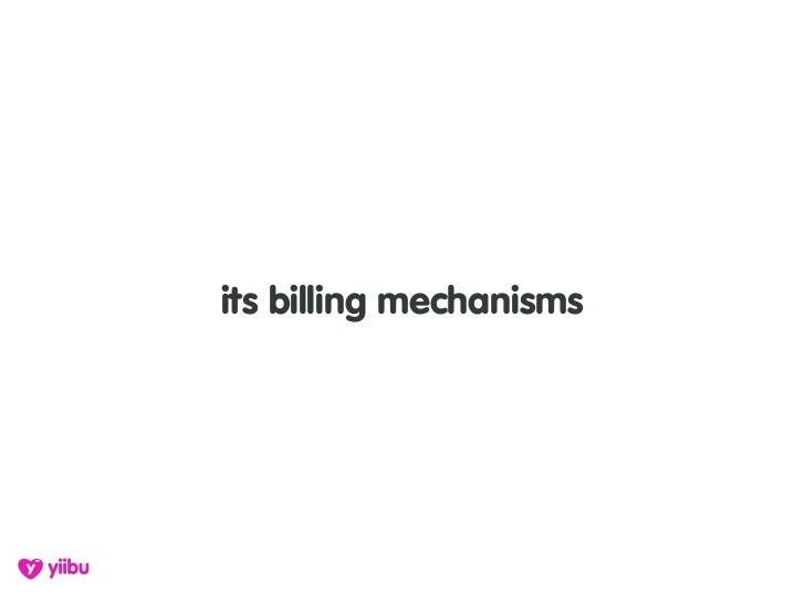its billing mechanisms
