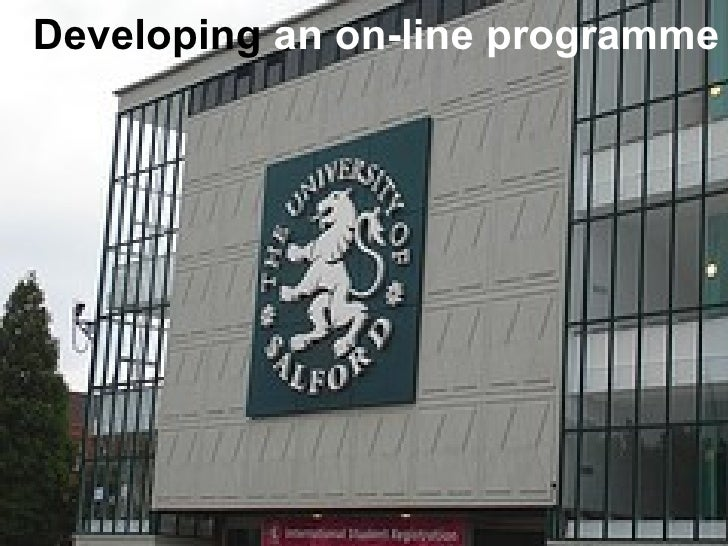Developing  an on-line programme